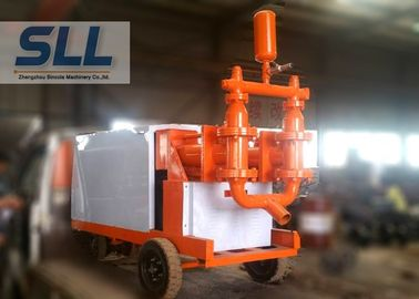 China Fully Hydraulic Cement Mortar Pump Mobil Concrete Pump Fast Speed 110L min distributor