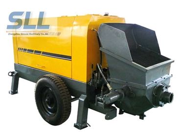 China Large Capacity Mobile Cement Mortar Pump Long Service Life 12 Months Warranty distributor
