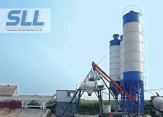 HZS35 Cement Concrete Batching Plant With Sealed Patent Convenient Operation